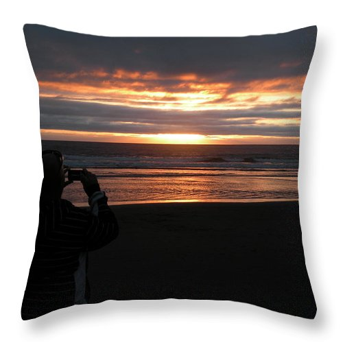 Sunset Throw Pillow featuring the photograph Picture Of A Picture by David Quist