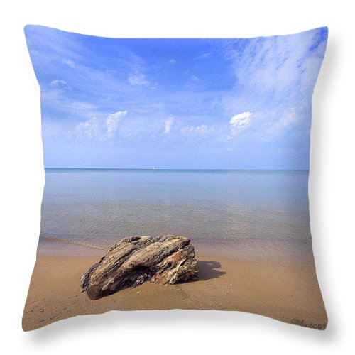 Photography Throw Pillow featuring the photograph Piece Of Paradise by Jale Fancey