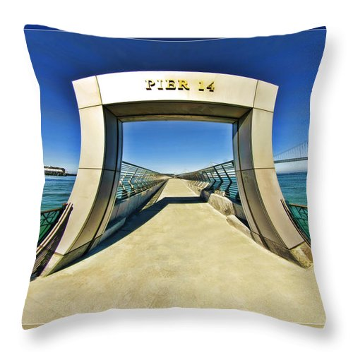 Art Photography Throw Pillow featuring the photograph Pier 14 by Blake Richards