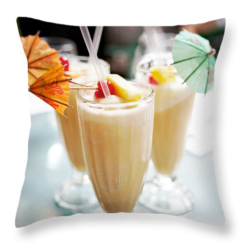 Pina Colada Throw Pillow featuring the photograph Pina Colada by Kim Fearheiley