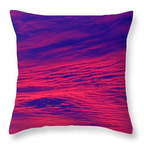 Sunrise Throw Pillow featuring the photograph Pink And Purlple Morning by Lloyd Alexander