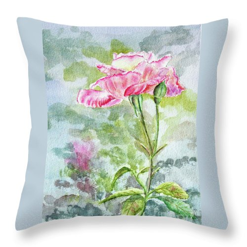 Pink Throw Pillow featuring the painting Pink Lady by Kathryn Duncan