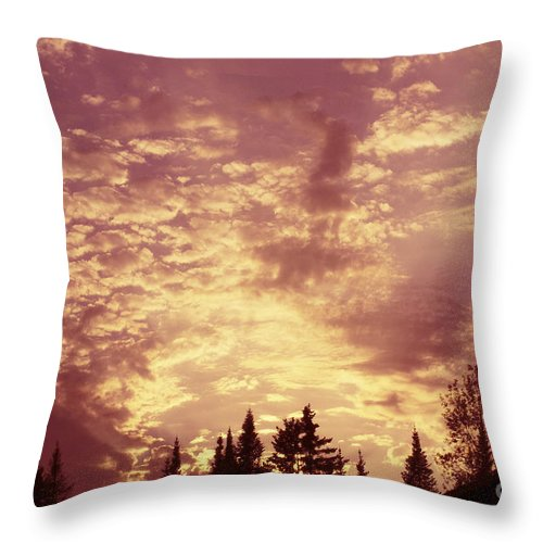 pink Sunset Throw Pillow featuring the photograph Pink Sunset by Aimelle