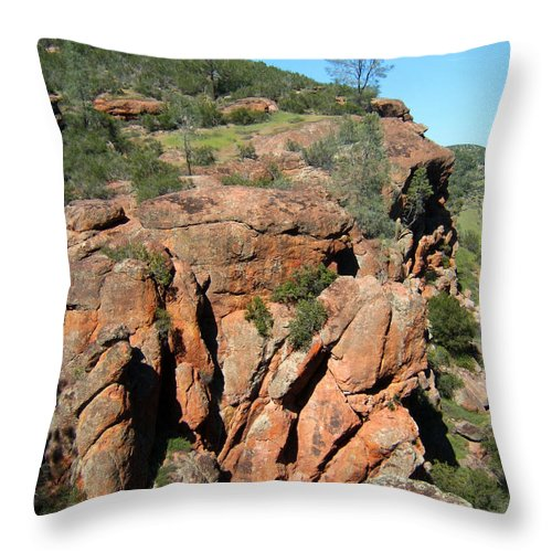 Artoffoxvox Throw Pillow featuring the photograph Pinnacles Outcropping Photograph by Kristen Fox