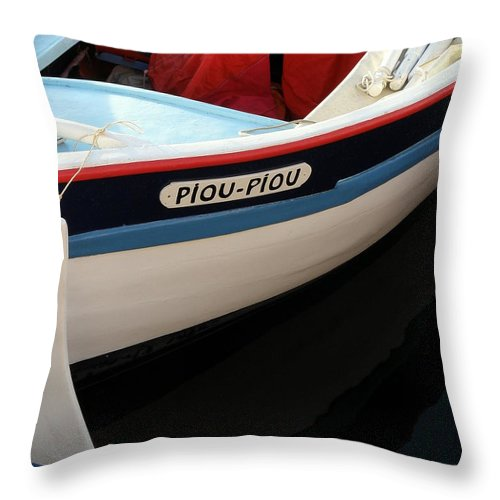Boat Throw Pillow featuring the photograph Piou - Piou by Lainie Wrightson