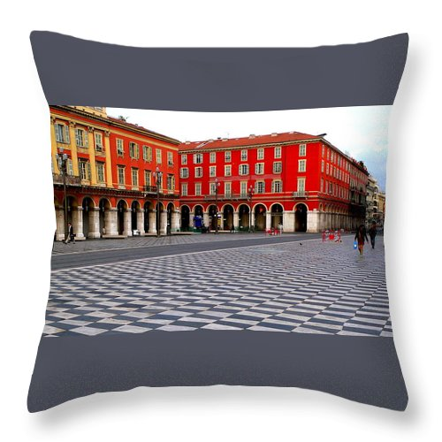 Place Massina Throw Pillow featuring the photograph Place Massina by Eric Tressler