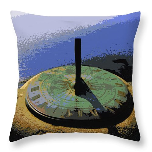 Sundial Throw Pillow featuring the photograph Place Time Dimension by Lainie Wrightson