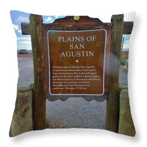 Plains Of San Agustin Throw Pillow featuring the photograph Plains Of San Agustin by Dany Lison