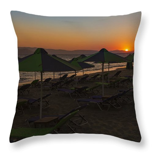Plaka Throw Pillow featuring the photograph Plaka - Naxos by Joana Kruse