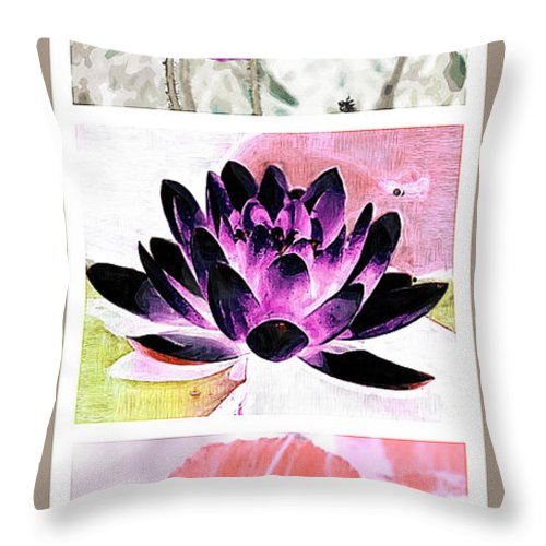 Plants Throw Pillow featuring the photograph Plant Material by Donna Bentley