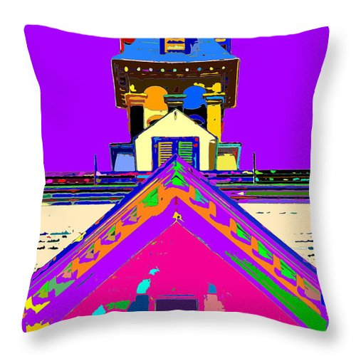 Church Throw Pillow featuring the photograph Playhouse by Burney Lieberman