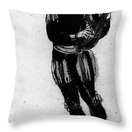 1780 Throw Pillow featuring the photograph Playing Card, 1780 by Granger
