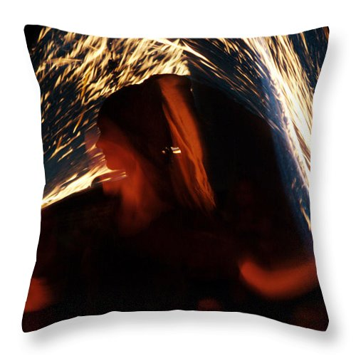Fire Throw Pillow featuring the photograph Playing With Fire by Ulrich Kunst And Bettina Scheidulin