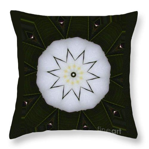 Digital Design Throw Pillow featuring the photograph Plumeria by Mark Gilman