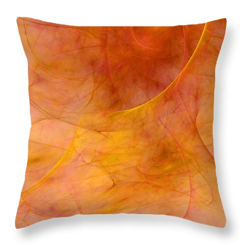 Abstract Throw Pillow featuring the digital art Poetic Emotions Abstract Expressionism by Georgiana Romanovna