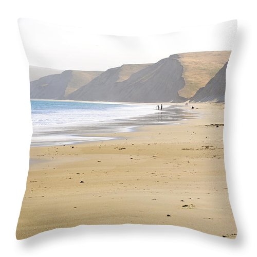 Point Reyes Throw Pillow featuring the photograph Point Reyes Beach by Diego Re