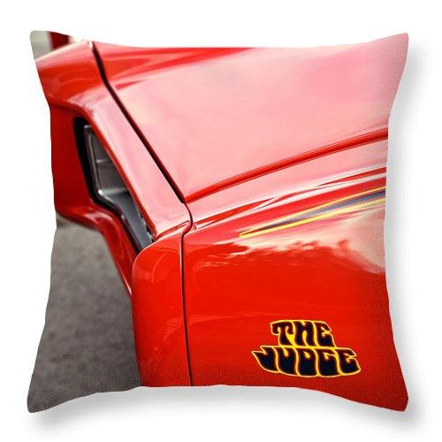 Pontiac Throw Pillow featuring the photograph Pontiac Gto - The Judge by Gordon Dean II