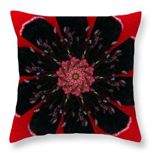 Digital Throw Pillow featuring the digital art Poppy by Rhonda Barrett