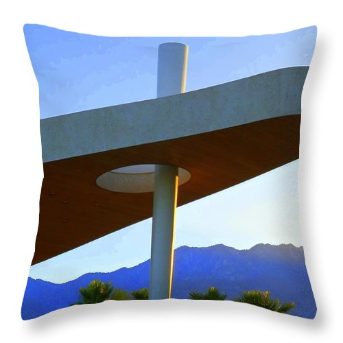 Porte Cochere Throw Pillow featuring the photograph Porte Cochere 3 by Randall Weidner