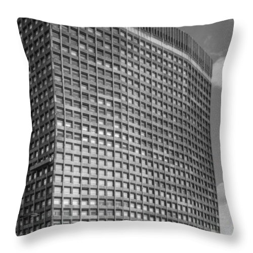 Cityscape Throw Pillow featuring the photograph Portland House by David French