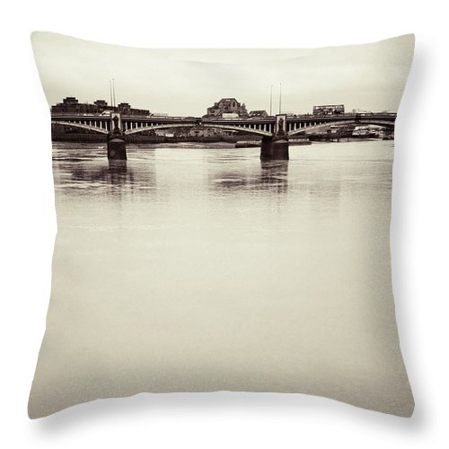 Vauxhall Throw Pillow featuring the photograph Portrait Of A London Bridge by Lenny Carter