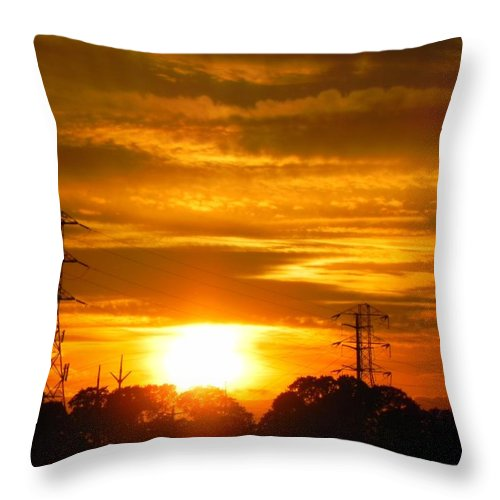 Sunset Throw Pillow featuring the photograph Power by Leah Moore
