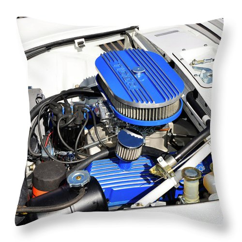 Sunbeam Tiger Throw Pillow featuring the photograph Powered By Ford by Paul Mashburn