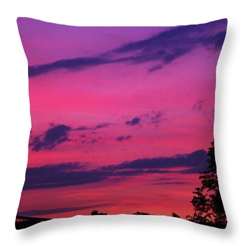 Prague Throw Pillow featuring the photograph Prague Sunset by Mariola Bitner