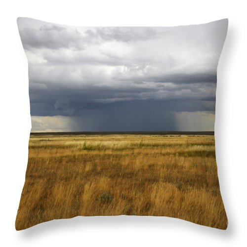 Weather Throw Pillow featuring the photograph Prairie Sky by Bob Christopher