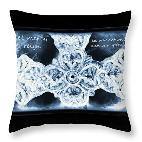 Faith Throw Pillow featuring the photograph Prayer Triptych 1 by Angelina Vick