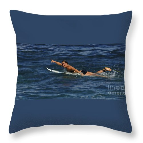Women In Sports Throw Pillow featuring the photograph Pretty Powerful by Bob Christopher