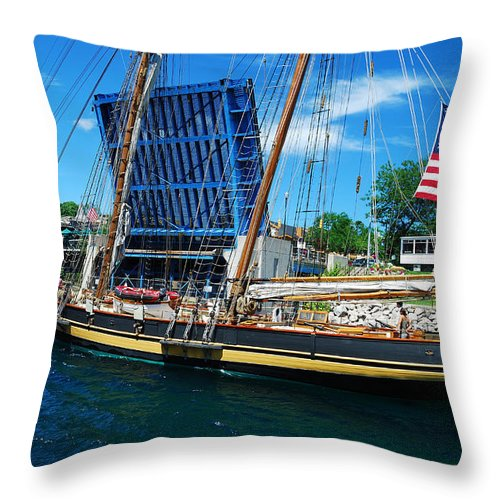 Throw Pillow featuring the photograph Pride Of Baltimore No. 3 by Janice Adomeit