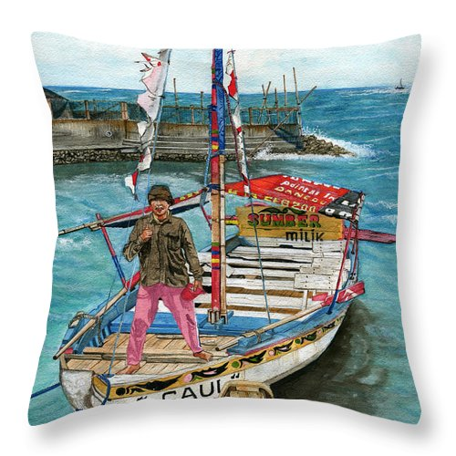 Pride Of Ownership Throw Pillow featuring the painting Pride Of Ownership by Melly Terpening