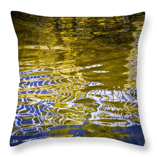 Priest Lake Reflections Throw Pillow featuring the photograph Priest Lake Reflections by David Patterson