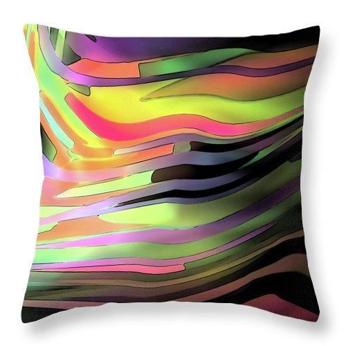 Modern Throw Pillow featuring the digital art Progression by ME Kozdron
