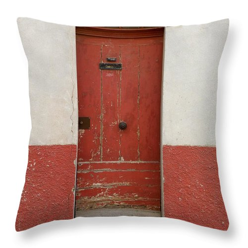 Door Throw Pillow featuring the photograph Provence Door 13 by Lainie Wrightson