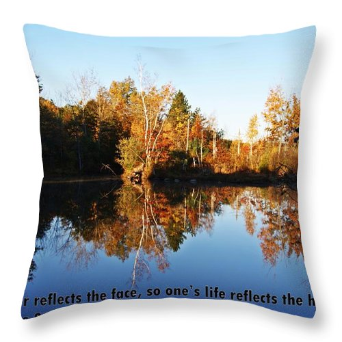 Proverbs Throw Pillow featuring the photograph Proverbs 27 V19 by Joe Faherty