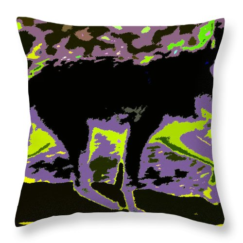 Art Throw Pillow featuring the painting Prowling by David Lee Thompson