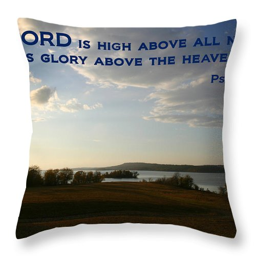 Landscape Throw Pillow featuring the photograph Psalm 113 4 by Nina Fosdick