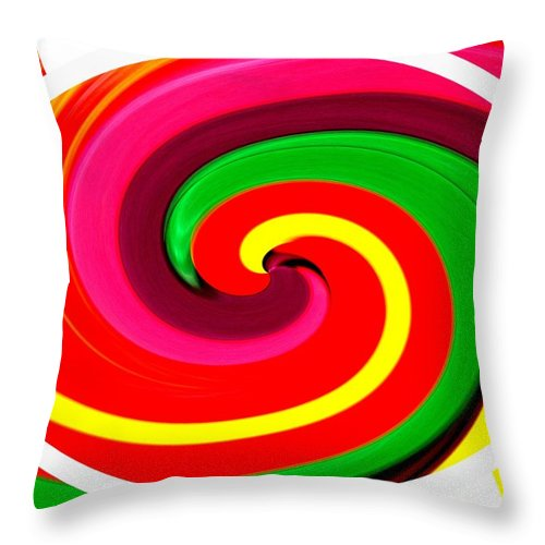 Psychodelic Throw Pillow featuring the photograph Psychodelia by Renate Nadi Wesley