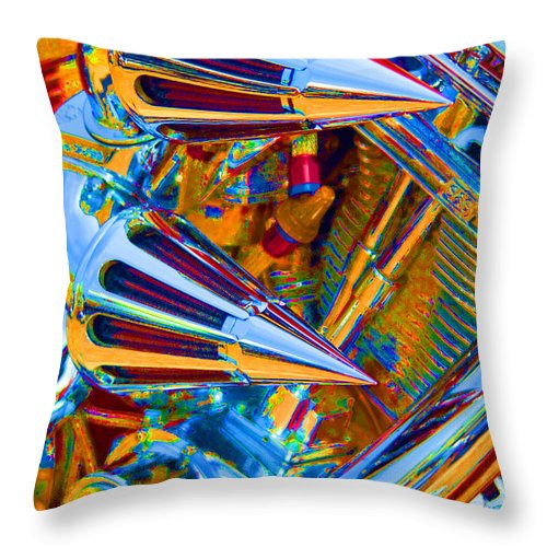Chopper Throw Pillow featuring the photograph Psychodelic Chopper-2 by Paul W Faust - Impressions of Light