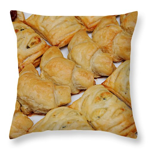 Food Throw Pillow featuring the photograph Puff Pastry Party Tray by Andee Design