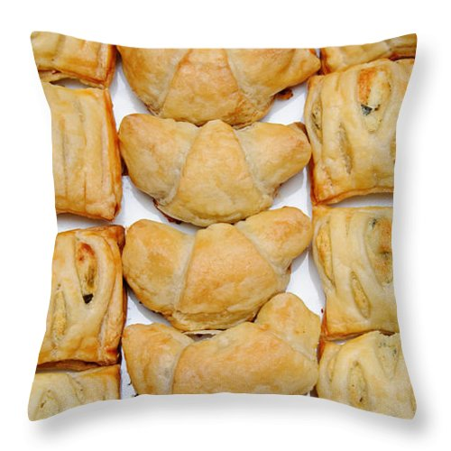Food Throw Pillow featuring the photograph Puff Pastry Party Tray Pano by Andee Design