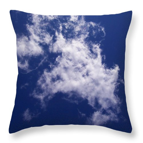 Cloud Throw Pillow featuring the photograph Pulled Cotton Clouds by Corinne Elizabeth Cowherd