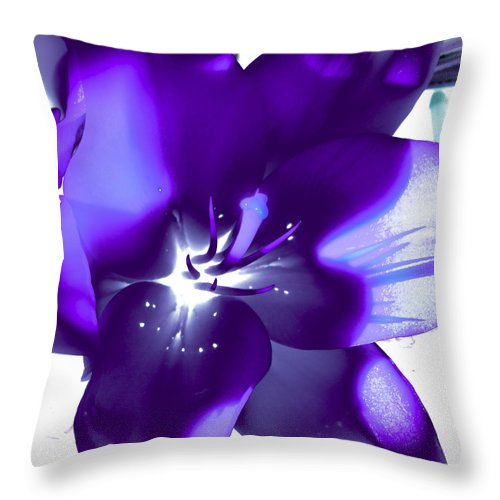 Lily Throw Pillow featuring the photograph Purple Blast by David Patterson