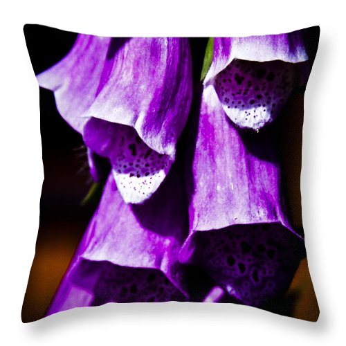 Floral Throw Pillow featuring the photograph Purple Cascade by David Patterson