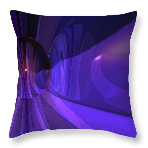 Abstract Throw Pillow featuring the digital art Purple Delight by Marisa Gabetta
