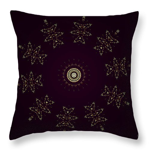 Kaleidoscope Throw Pillow featuring the photograph Yellow Flying Kitties Cats by Donna Brown