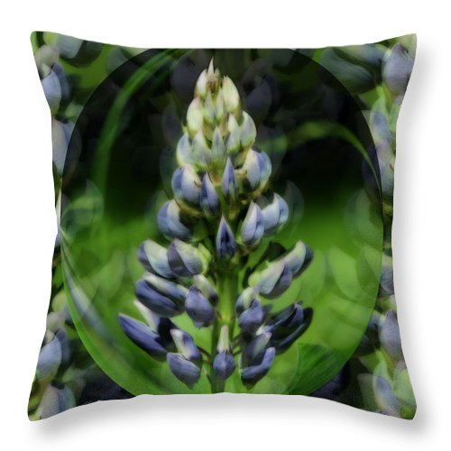 Flower Throw Pillow featuring the photograph Purple Lupine Beauty by Smilin Eyes Treasures