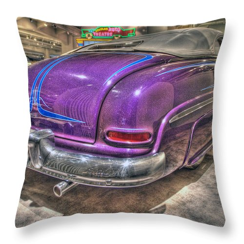 Throw Pillow featuring the photograph Purplre Car Dearborn Mi by Nicholas Grunas